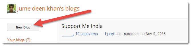 click new blog
