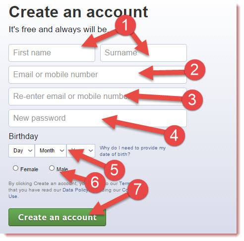 create facebook account now