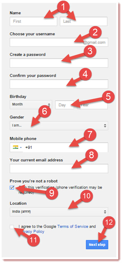 gmail sign up forum