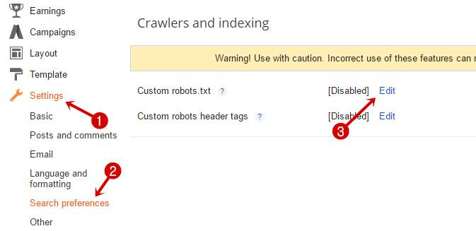 Crawl and indexing