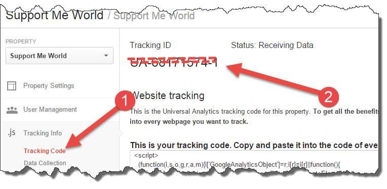 analytics tracking codes