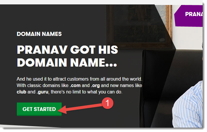 buy domain on godaddy