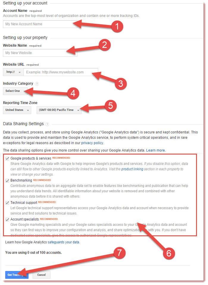 create analytics account