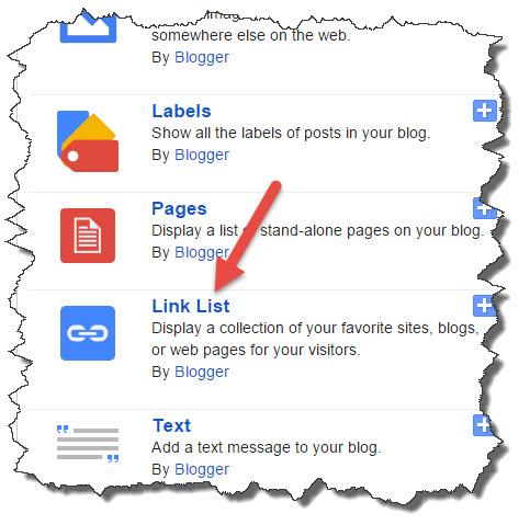 select link list
