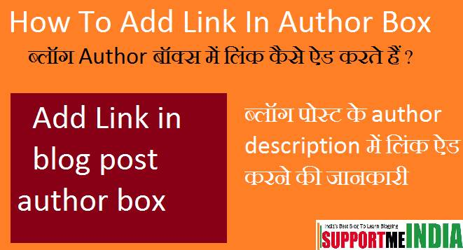 Author Box Description Me Link Kaise Add Kare
