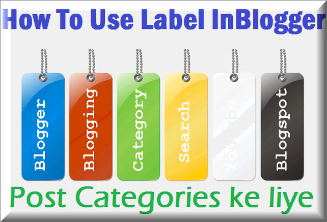 Blogger Label as Category