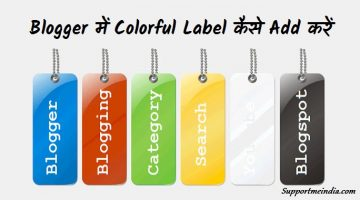 Blogger Me Colorful Label Kaise Use Karte Hai
