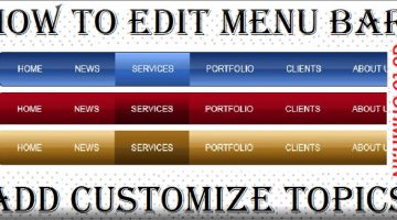 Blogger Menu Bar Editing