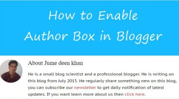 How to enable author blox in blogger