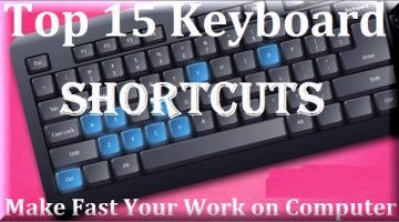 Top 15 keyboard shortcutes