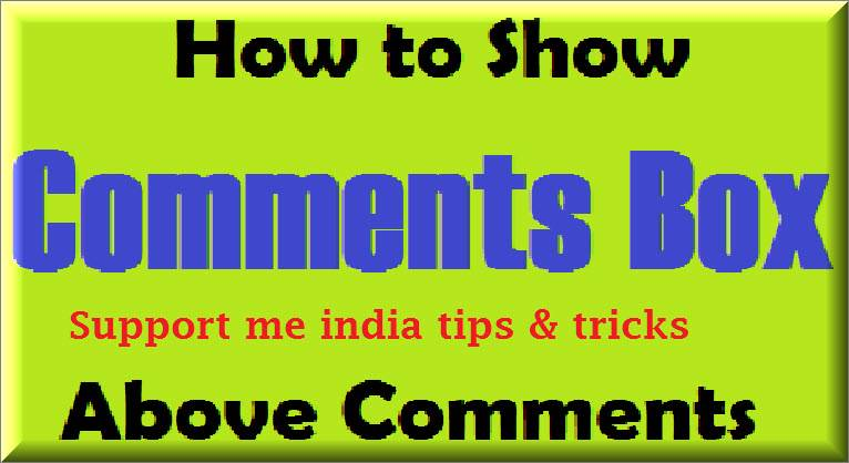 Use comment box above all comments