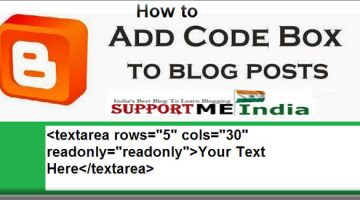 add code box in blogger post