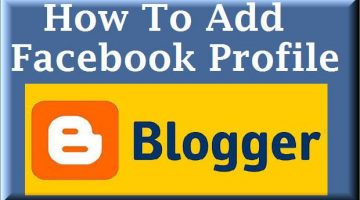 add facebook profile in blogger