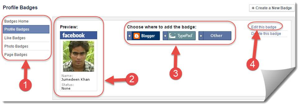 create facebook widget