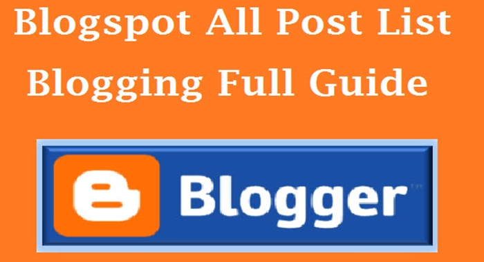 full guide to blogger