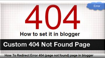 how to set error 404 in blogger