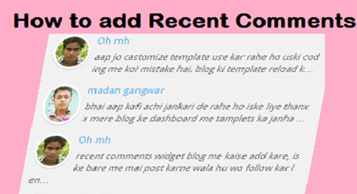 recent-comment-widget-for-blogger