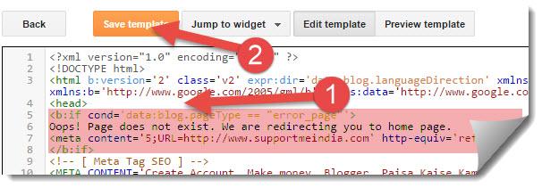 redirect meta code
