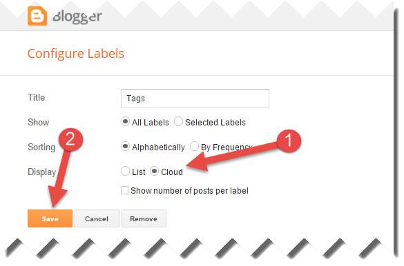 select label in blogger layout