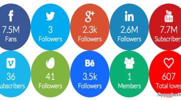 social follow button
