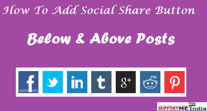 how to add social media share button in blogger