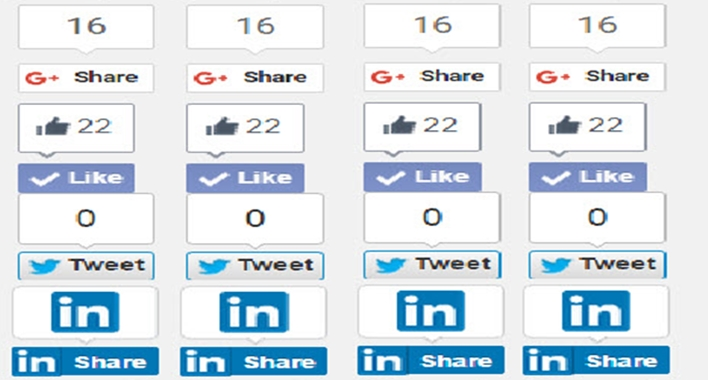 floating social share button