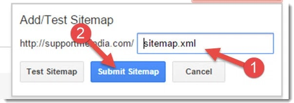 add sitemap url