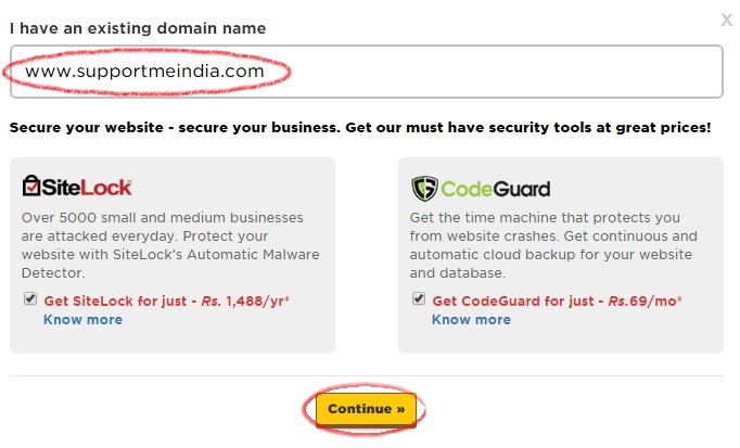 Add Your Domain for Buy Hosting