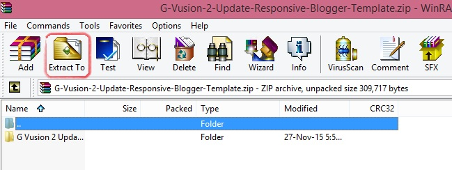 Change zip file to xml file