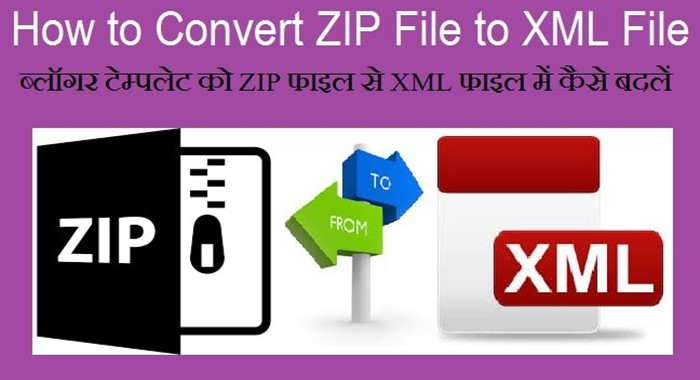 Convert zip file to xml file