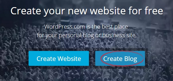 Create WordPress free blog