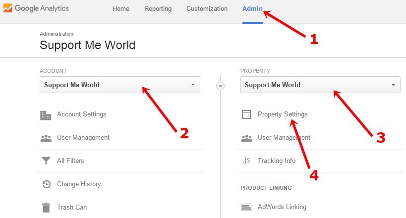 Google analytics account delete settings