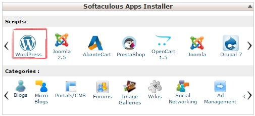 Softaculous apps installer
