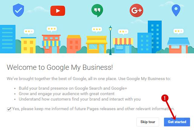 Weelcome to google my bussiness