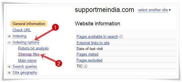 Add blog sitemap to yandex