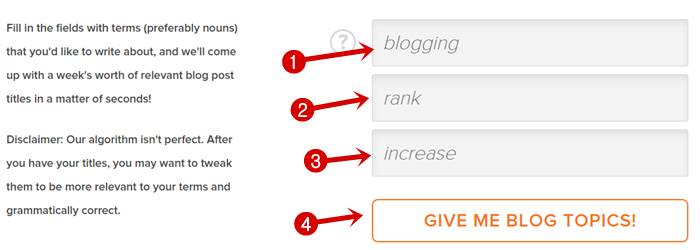 Add high ranking keywords in Hubspot