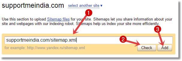 blog sitemap ko yandex webmaster me kaise submit kare