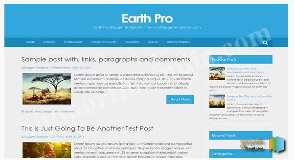 Earth Pro Blogger Template