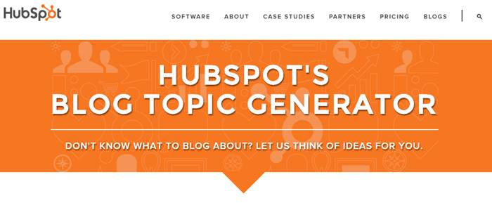 Hubspot Blog Tpic Generator
