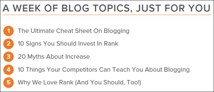 Hubspot high quality blog post result