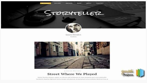 Storyteller Blogger Template