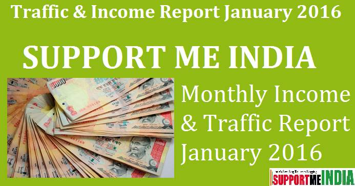 SupportMeIndida Income & Traffic Report January 2016 - 50,000 INR