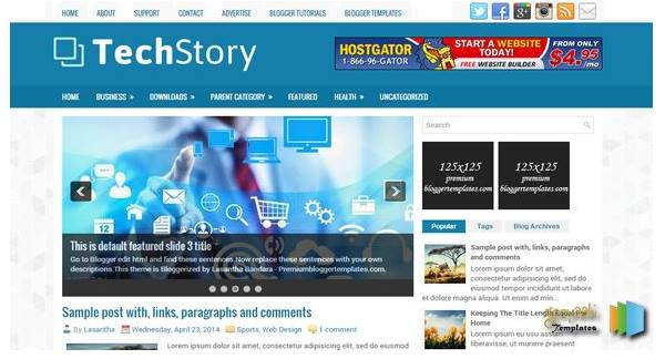 TechStory Blogger Template