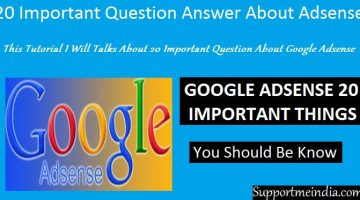20 Important Question Answer About Google Adsense