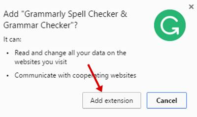 Add Grammarly Spell Checker