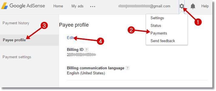 how to change verified address on google account