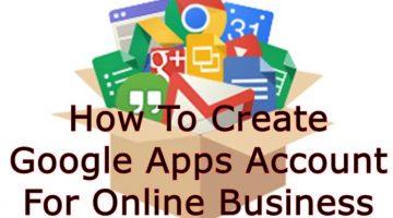 Create Google Apps Account