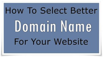 Deside better domain name for your site