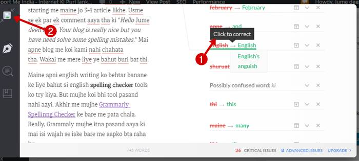 Grammarly English Meaning checker