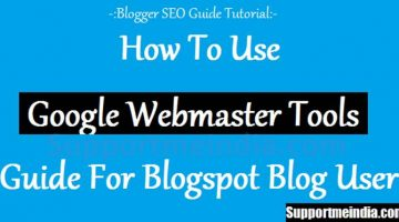 Guide for blogspot user to using webmaster tools